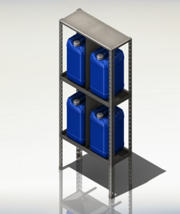 Estante para químicos / Chemical rack