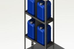Estante para químicos / Chemical rack