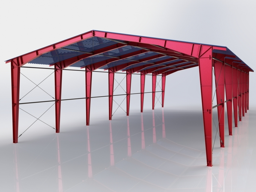 steel structure 3d cad model library grabcad