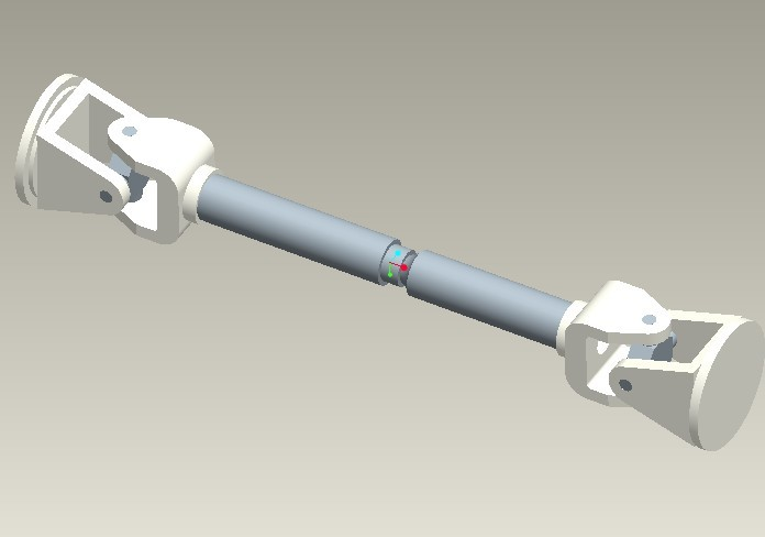 Automobile Propeller Shaft | 3D CAD Model Library | GrabCAD