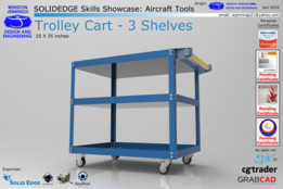 Solid Edge Skills Showcase: Trolley Cart - 3 Shelves