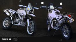Dual Sport Motorcycle Concept 3d