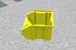Small Storage Bin Yellow