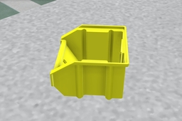 Small Storage Bin Yellow