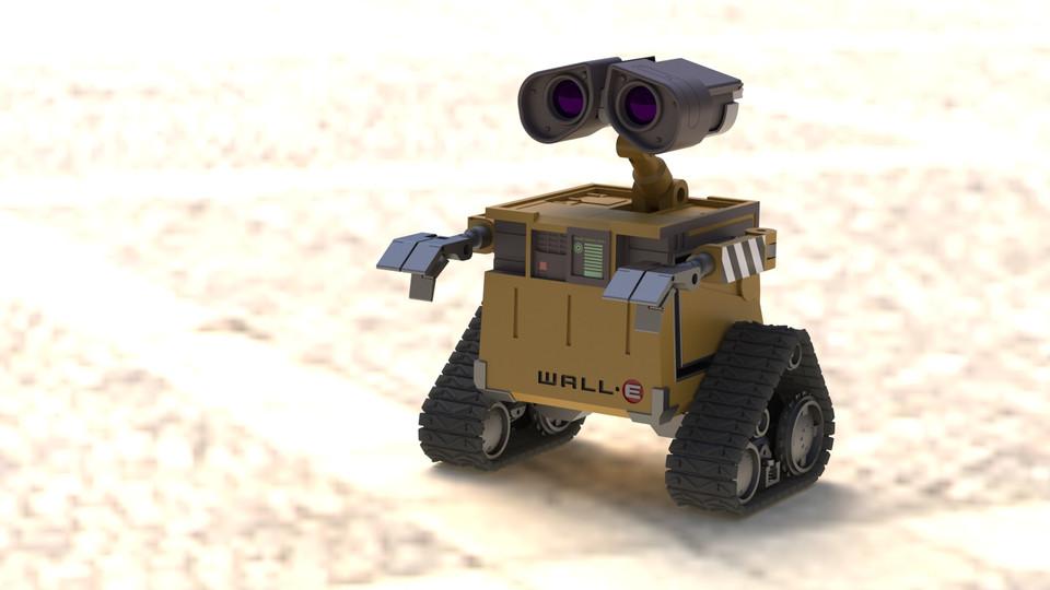 WALL-E   3D CAD Model Library   GrabCAD