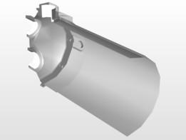 Heat Exchanger Pyrex Glass Shell