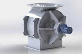 10 Inch Rotary Airlock Hydraulic Driven