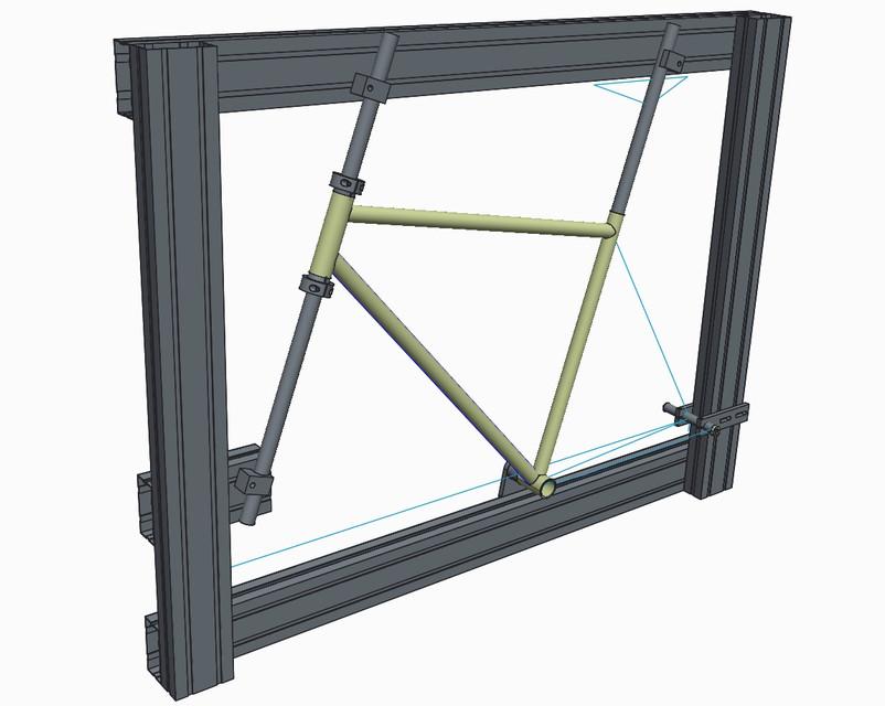 Bicycle/bike frame building jig | 3D CAD Model Library | GrabCAD