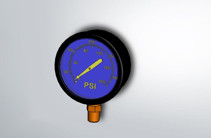 Pressure gauge 3d cad model library grabcad altavistaventures Image collections