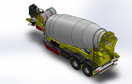 CONCRETE MIXER_ SEMI TRAILER