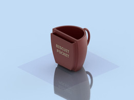 Coffee Cup With Biscuit Pocket