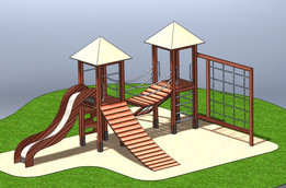 Children climbing frame