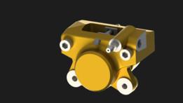 Bajaj Pulsar 220F rear brake double piston fixed caliper