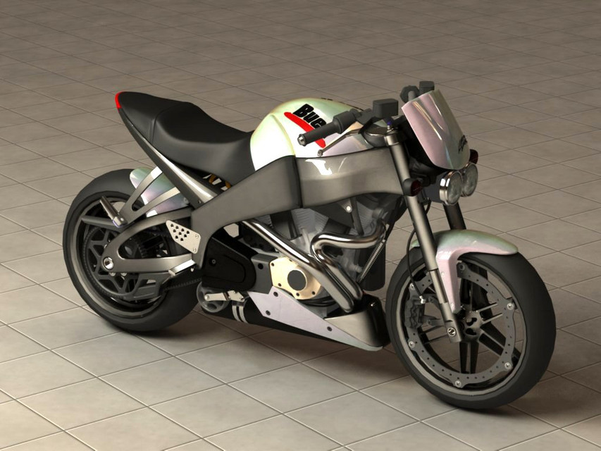Buell motorcycle | 3D CAD Model Library | GrabCAD