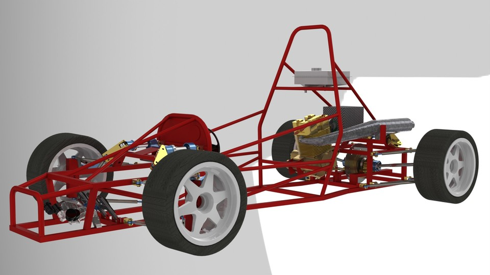 Race Car Tubular Chassis | 3D CAD Model Library | GrabCAD