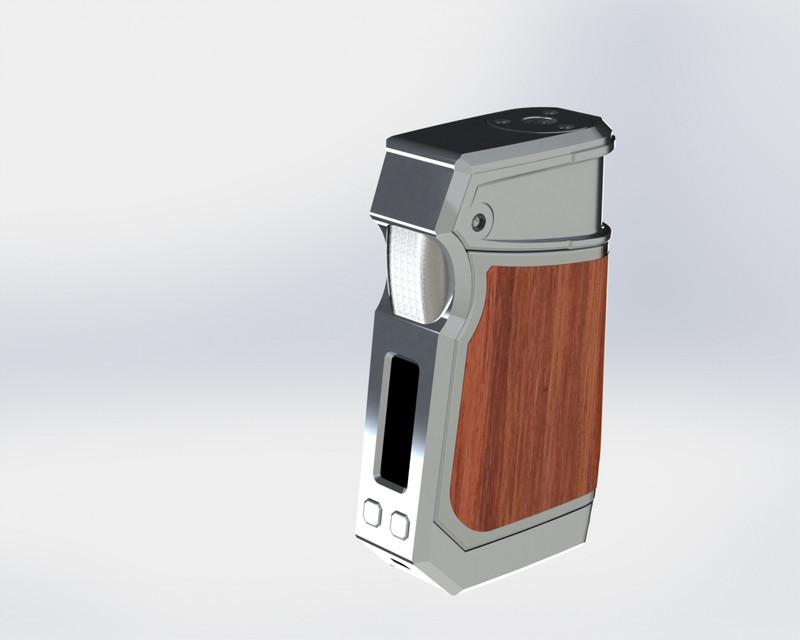 Sigelei Custom Vape Mod   3D CAD Model Library   GrabCAD
