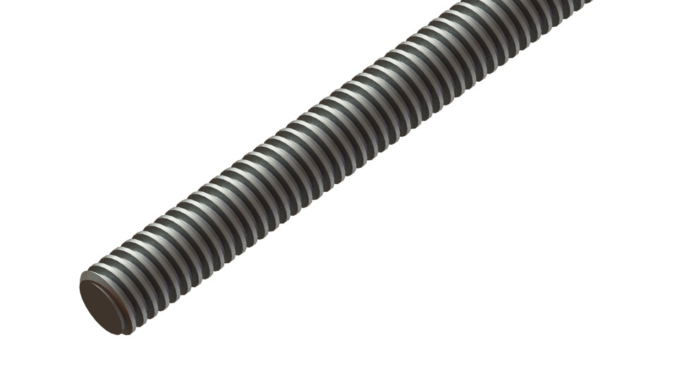 T8 trapezoidal lead screw lead | 3D CAD Model Library | GrabCAD