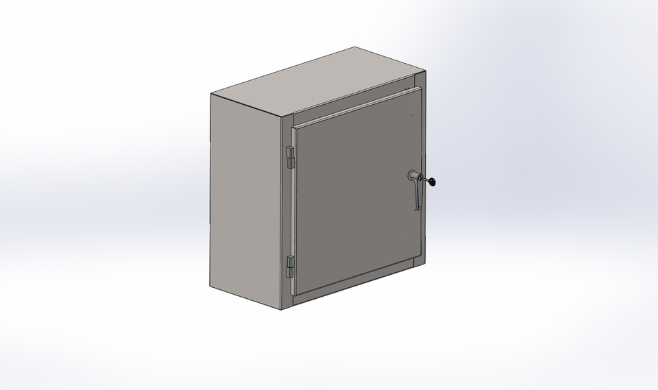 Sheet Metal Electrical Enclosure 3d Cad Model Library