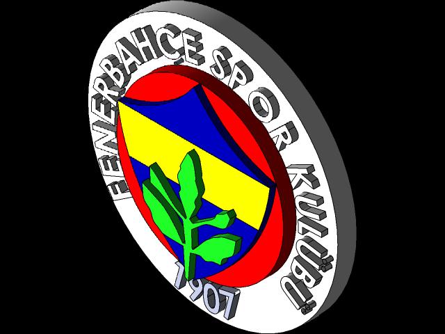 Fenerbahce Spor Kulubu Logo 3d Cad Model Library Grabcad