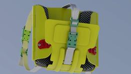 Foldabale and Wearable Kayak Seat 1