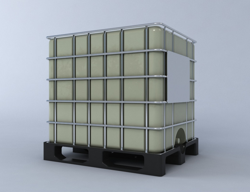 ibc 1000ltr container on palette 3d cad model library grabcad. Black Bedroom Furniture Sets. Home Design Ideas