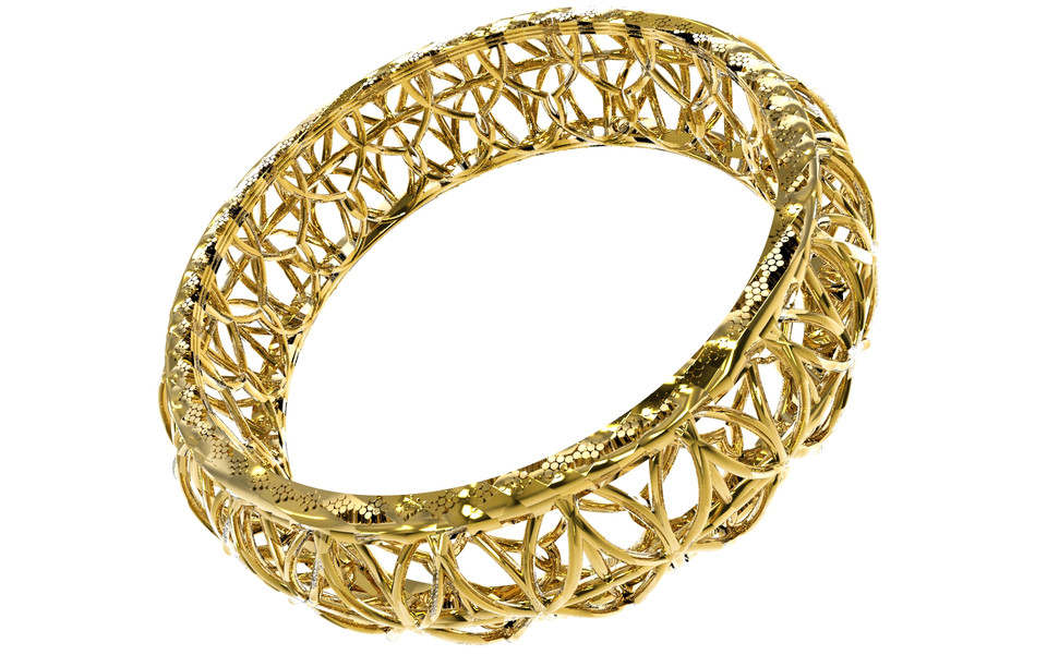 GOLD JEWEL- HAND RING DESIGN | 3D CAD Model Library | GrabCAD