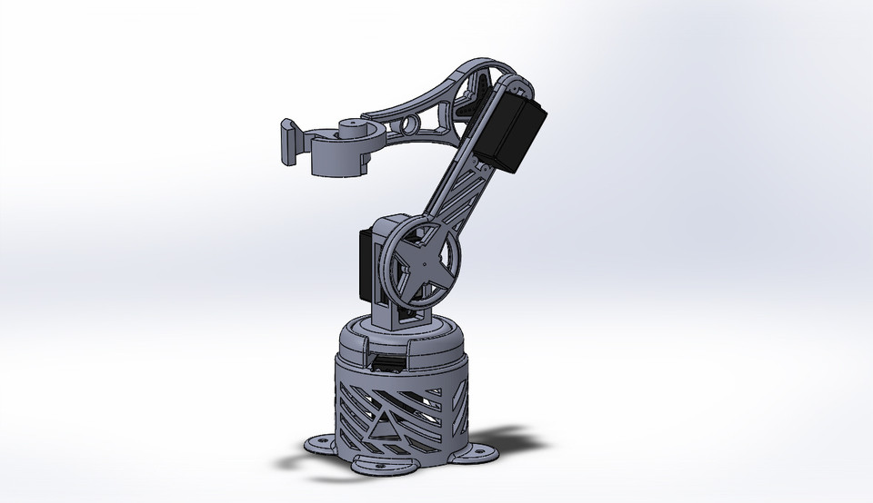 Robot Arm | 3D CAD Model Library | GrabCAD