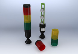 Torre Luminosa C/ 3 Elementos (Verde - Vermelho - Amarelo)