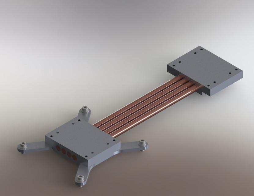 Gratis Schip 200mm Heat Pipe Radiator DIY kits heat sink ...