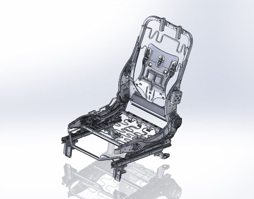 Frame of Car Seat | 3D CAD Model Library | GrabCAD