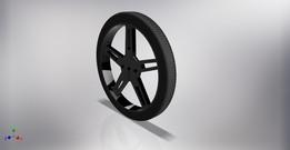 Pololu Wheel 70x8mm Black