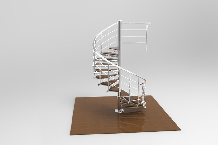 Spiral Staircase 3d Cad Model Grabcad