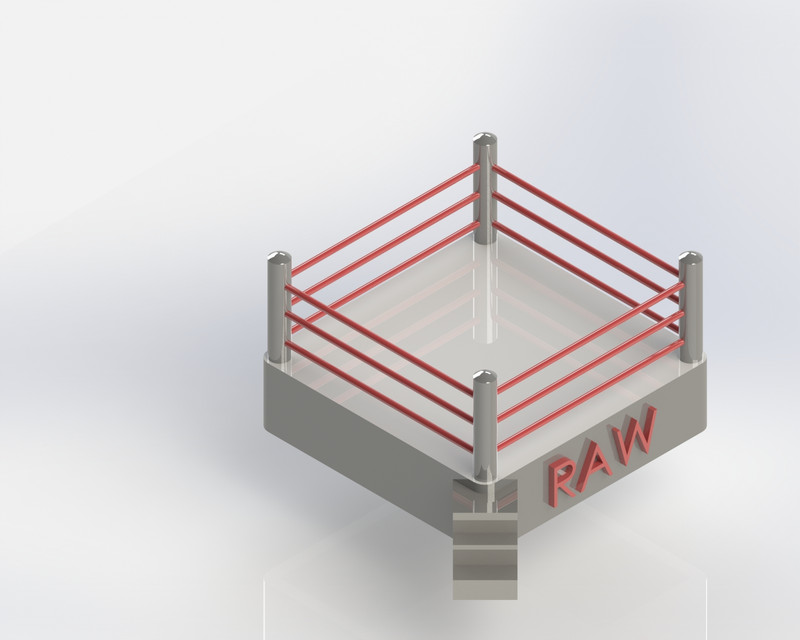 wrestling Ring | 3D CAD Model Library | GrabCAD