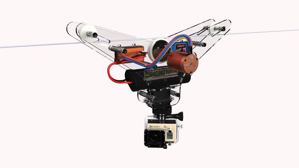 Gopro Cable Cam : Gopro cable cam d cad model library grabcad