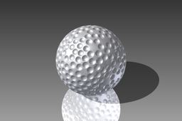 I made a golf ball.