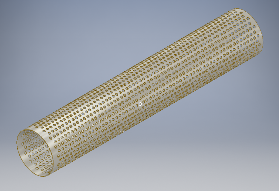 Perforated pipe   3D CAD Model Library   GrabCAD