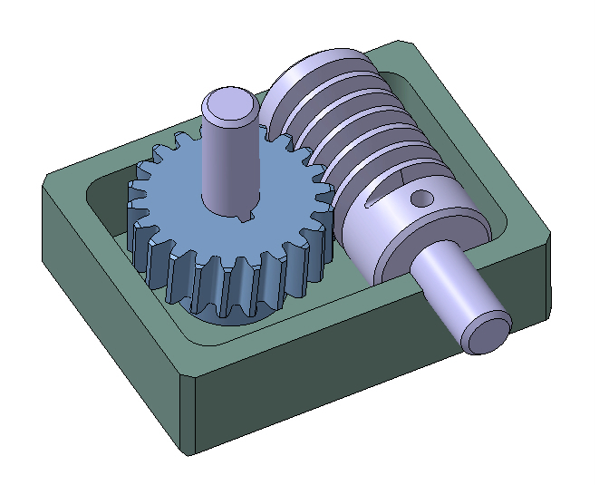 helical gear | 3D CAD Model Library | GrabCAD
