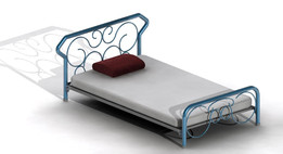 Poitiers Metallic Tubular Bed