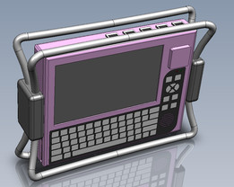 Rugged Military Tablet with Detachable Hard Disk Drive (concept)