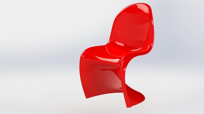 Panton Chair STL SOLIDWORKS 3D CAD Model GrabCAD