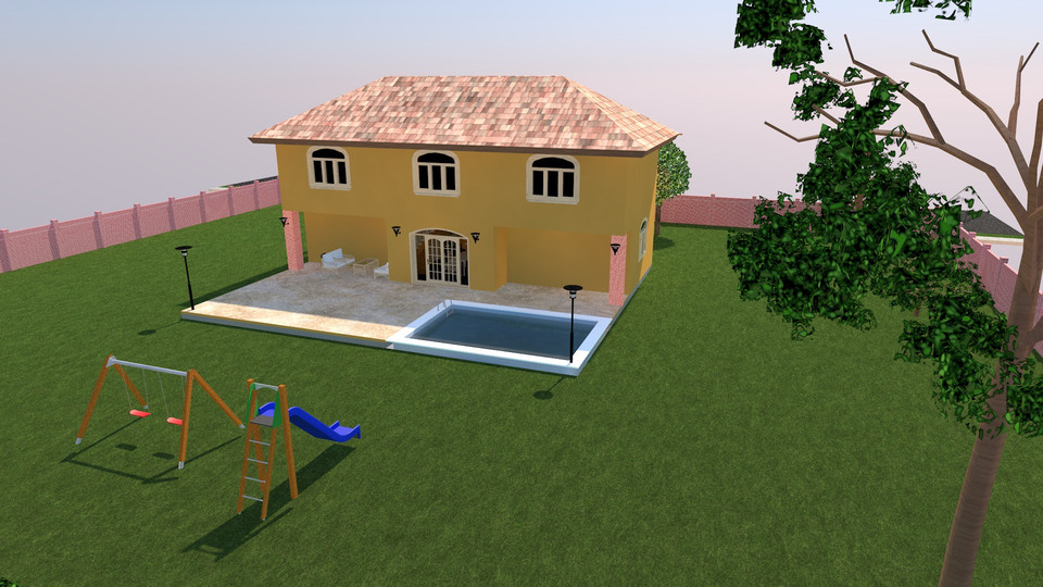 Dream house 3d cad model library grabcad for Dream house 3d