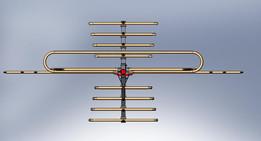Antenna VHF UHF Yagui 24 tube elements and dipole