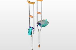 Crutch cup-dish holder