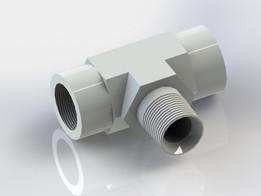 Hydraulic FITTING, TEE, 5604-6-6-6