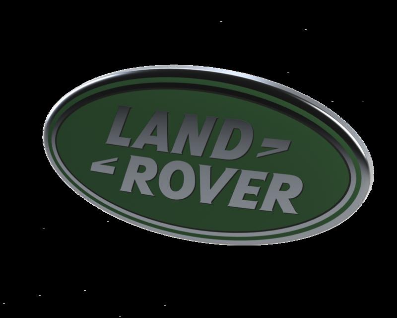 Land Rover Logo 3d Cad Model Library Grabcad