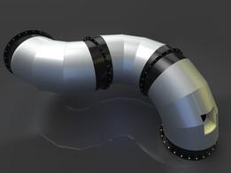 Duct diameter 1800 mm (Газоход диаметром 1800 мм футерованный.)