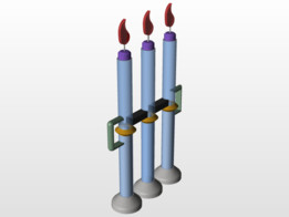 New and improved Triple Regenerating Candle With Handles