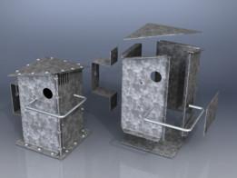 Steel (industrial design) Bird House