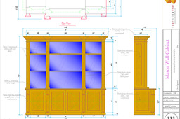 Wall Cabinet with glass back wall