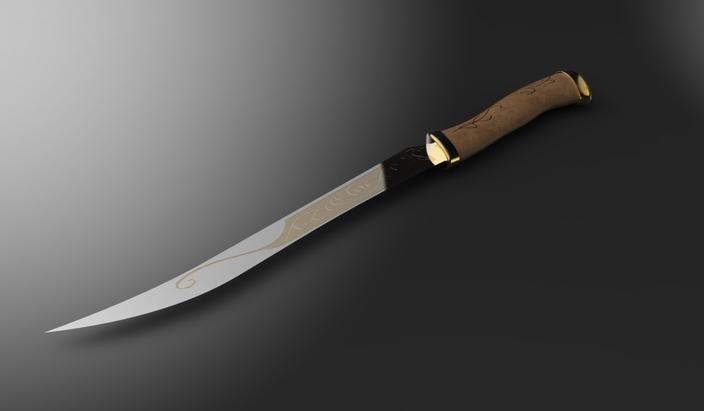 LOTR Series - The Fighting Knives of Legolas - CATIA, STL ...